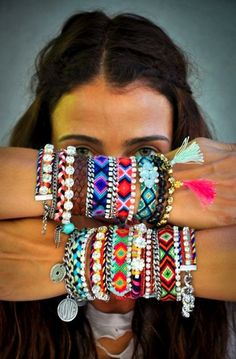 Mix up textures with your bracelets