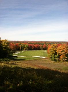 The tree tops really brag in the fall showing off their beautiful colors. Treetops Resort, Gaylord Michigan