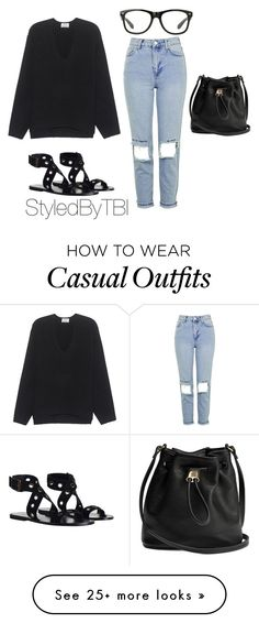 """""""CASUAL"""" by styledbytbi on Polyvore featuring Zimmermann, Topshop and Acne Studios"""