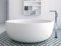 Freistehende ovale Badewanne aus Solid Surface® Kollektion Moon by INBANI | Design INBANI