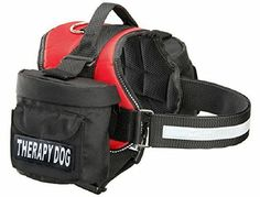 Therapy Dog Service Dog Harness with Removable Saddle Bag Backpack Pack Carrier Traveling Carrying Bag 2 removable THERAPY DOG Velcro patches Please measure dog before ordering Made by Doggie Stylz * To view further for this item, visit the image link. This Amazon pins is an affiliate link to Amazon.