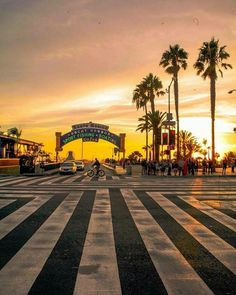 The entrance to the Santa Monica Pier. This spot is the Pacific Ocean terminus of Interstate 10 - which runs coast to coast, terminating on the Atlantic Ocean in Jacksonville. This was also the western end of the old Route 66.