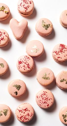 French Macarons with Pomegranate Ganache