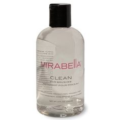 Mirabella Clean for Brushes: Ideal for quick cleansing. Conditioners remove static from brushes while maintaining the integrity of the hair.