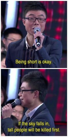 This is what I am going to tell my tall friends from now on