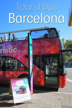 I tried the tourist bus Barcelona to see what the hop on hop off bus in Barcelona is like. Read my review and get your Barcelona bus tour discount now. #barcelona #tour #bus #spain