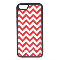 CellPowerCasesTM Coral Chevron iPhone 6 (4.7) Protective V1 Black Case ($13) ❤ liked on Polyvore featuring accessories, tech accessories and black