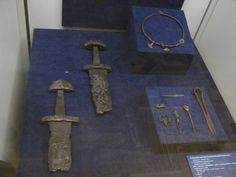 Swords and a thorshammerring from Gnezdovo, near Smolensk, Russia.