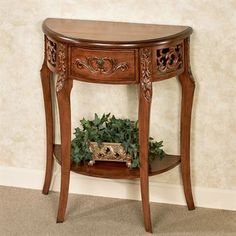 Lune Regal Walnut Wooden Console Table