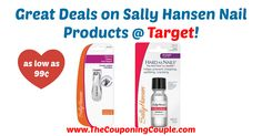 WOW!! Awesome savings, be sure to grab this coupon and pick up these quick deals at Target, or use at your favorite store! Great Deals on Sally Hansen Nail Products @ Target!  Click the link below to get all of the details ► http://www.thecouponingcouple.com/great-deals-on-sally-hansen-nail-products-target/ #Coupons #Couponing #CouponCommunity  Visit us at http://www.thecouponingcouple.com for more great posts!