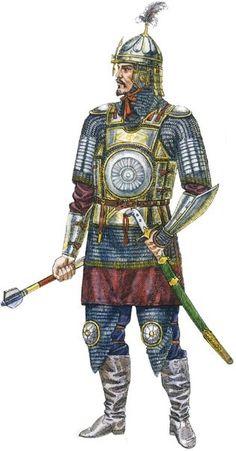 1460 c. Kazak Warrior. Kazakh Khanate was founded in 1456-1465