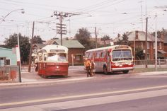 48-humber-blvd-10. Toronto 1974 TTC bus and streetcar