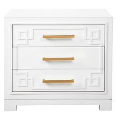 regal elegance -York 3 Drawer Nightstand from Z Gallerie Stylish Bedroom, Stylish Home Decor, Affordable Home Decor, Furniture Decor, Bedroom Furniture, Bedroom Decor, Master Bedroom, Kitchen Furniture, Gold Bedroom