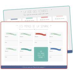 Vie de Miettes - http://www.vie-de-miettes.fr/2013/12/14/planificateur-repas-liste-imprimer/