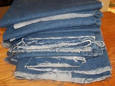 Rag Quilts - How to make a Denim Rag Quilt  http://dianeinside.hubpages.com/hub/Rag-Quilts-How-to-make-a-Denim-Rag-Quilt
