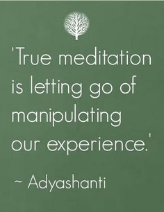 So very true. There should be no need to manipulate your experience!