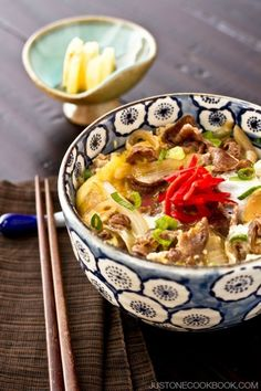 Gyudon (Beef Rice Bowl) | Easy Japanese Recipes at JustOneCookbook.com