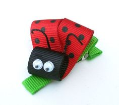 ladybug hair bow-sooo trying to make this