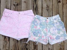 vintage floral statement shorts