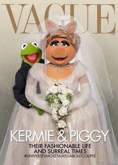 Vague - Miss Piggy & Kermit the Frog wedding photo