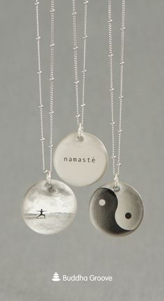 Yoga Series Silver Lithograph Jewelry, Made in the USA