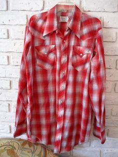 Vintage H Bar C California Ranchwear Shirt Men's Long