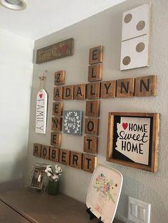 Family Letter wall art Oversized letters to display family & Game Tile Art | Pinterest | Scrabble Scrabble tiles and Craft