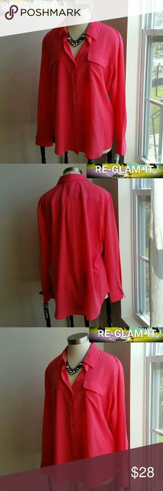APT.9...NEW LISTING..GORGEOUS CORRAL BLOUSE ...ADDING INFO SOON...EXCELLENT CONDITION..BRAND NEW...NWT...NO FLAWS..PLEASE READ ..COLOR IS ...LIKE A CORRAL PINK...SIZE TAG XL..FITS XXL...AS WELL...LOOSE FEEL THROUGHOUT Apt.9 Tops Blouses