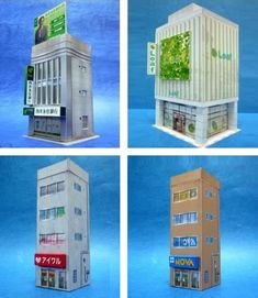 PAPERMAU: A Lot Of Buildings And Acessories For Dioramas In 1/150 Scale by Paper Structure