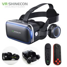 6f8452ebbba8 Electro Digital World. VR Headset Shinecon 6.0 Pro Stereo BOX Virtual  Reality Smartphone 3D Glasses Google VR Headset with Controller for Android  ...