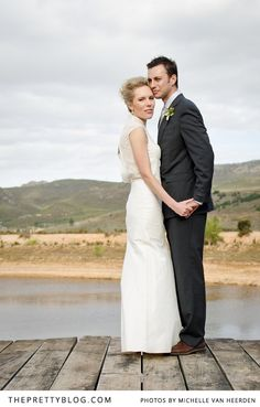 Lovely couple photographed against Winelands background | Photography: Michelle van Heerden Photography