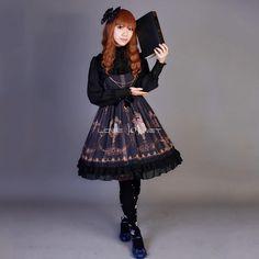 Customized Cute Pigeon Pattern Lolita Chiffon and Lace Dress 4 Colors