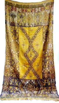 Bereichs-Wolldecke gelben Teppich marokkanische von WeBerber