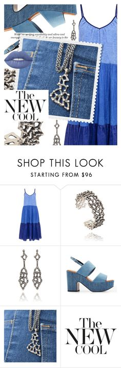 """""""Two-Tone Denim w/ blingsense.com"""" by cultofsharon ❤ liked on Polyvore featuring M.i.h Jeans, Robert Clergerie, Lime Crime, contest, denim, twotone, contestentry and blingsense"""
