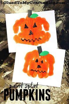 Paint Splat Jack-O-Lantern - Kid Craft Idea