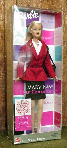 Barbie Mary Kay Red Jacket Star Consultant Doll 2003 40th Anniversary (NIB!)