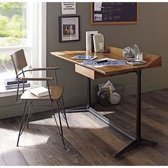 Spence Desk In Desks Crate And Barrel Love This Looks Fairly Simple To