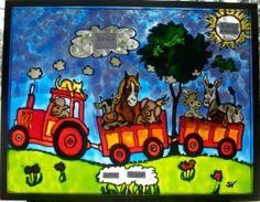 Mon amie Sabrina qui fait des merveilles de faux-vitraux! Faux-Vitraux pour enfants - faux-vitrail-sabrina.over-blog.com Simply Beautiful, Quilts, Images, Canvas, Watercolor Painting, Child Room, Leaded Glass Windows, Welcome, Rural Area