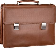 Leonhard Heyden Richmond 4253 Aktenmappe 3 Fächer Cognac - Notebooktasche   Tablet
