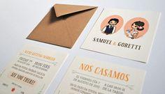 convite de casamento ilustracao - mood