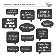 DIY Wedding Chalkboard Signs   DIY Photo Booth Printables - Chalkboard Signs ...   lovely little thi ...