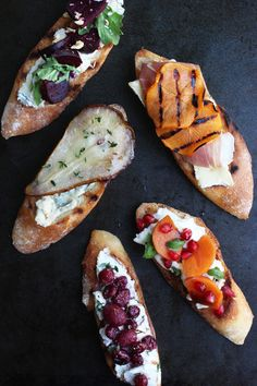 If there's one thing I've learned about holiday entertaining, it's to keep it simple. If anything, it'll at least save your sanity - especially during this time of year. Crostini is one our favorite things to assemble for gatherings and we love the idea of experimenting with different combinations
