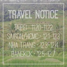 upcoming travels | destination wedding in palawan philippines and traveling to taiwan, vietnam, thailand - email me at mimi@miminguyen.com if you'd like to book a session or meet while I'm in the area!