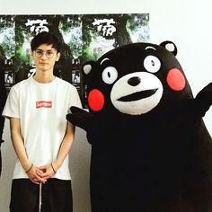 高良小哥&熊本部长3月去熊本怎么也要见着其中一只吧 #Kumamon #高良健吾 by hyde0922