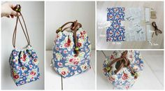 Reversible Drawstring Bag Is very useful and sewing it will be very enjoyable and much more enjoyable with tutorial with pictures.