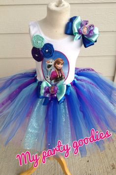 Frozen outfit tutu Anna outfit tutu Anna by Mypartygoodies on Etsy, $55.95