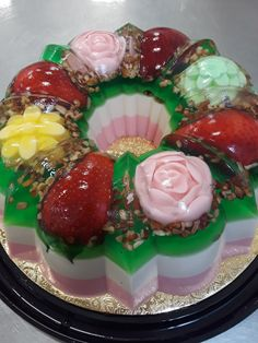 Flan, Jello Desserts, Jelly Cake, Diy Bouquet, Cupcakes, Fruit, Baby, Crafts, Entrepreneur