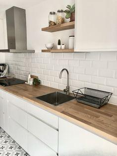 Kitchen Room Design, Modern Kitchen Design, Home Decor Kitchen, Interior Design Kitchen, Diy Kitchen, Kitchen Furniture, Home Kitchens, Scandinavian Kitchen, Kitchen Remodel