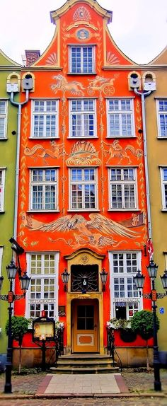 The Old Town, Gdansk, Poland carries you back to the Middle Ages, where you will find plenty of authentic, genuine old buildings. Most streets are located where they were in medieval times.