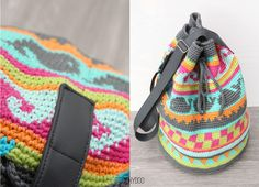 Discover thousands of images about Tapestry crochet: Wayuu Mochilas bags - free pattern Crochet Backpack, Bag Crochet, Diy Crochet And Knitting, Crochet Wool, Crochet Purses, Crochet Crafts, Tapestry Bag, Tapestry Crochet, Crochet Stitches Patterns